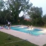 Atardecer en la piscina
